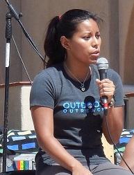 Nancy Tran Speaking at One Love Yoga Event